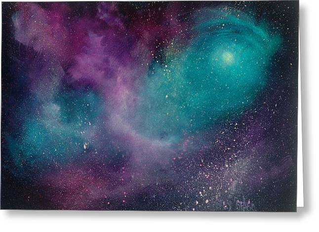Nebule Greeting Cards - Lost in Time Greeting Card by Sally Seago