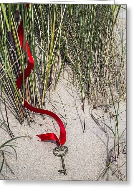 Sand Key Greeting Cards - Lost Key Greeting Card by Joana Kruse