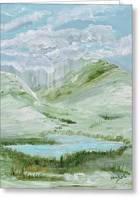 Lost Lake Greeting Card by Donna Blackhall
