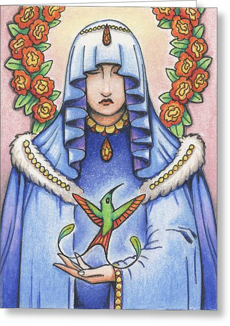 Resurrection Drawings Greeting Cards - Lost Loves Visitation Greeting Card by Amy S Turner