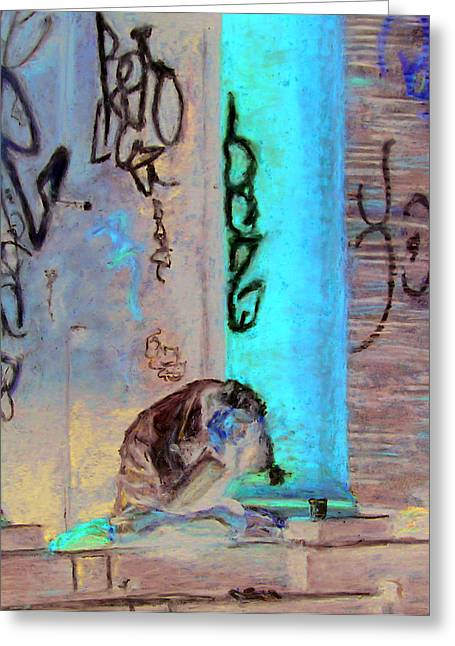 Graffiti Pastels Greeting Cards - Lost Greeting Card by Patrick Parker