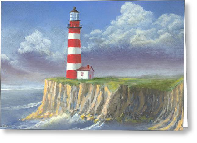 Lost Point Light Greeting Card by Jerry McElroy