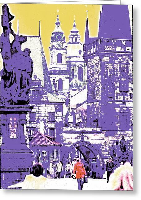 Lost Prague Greeting Card by Ira Shander