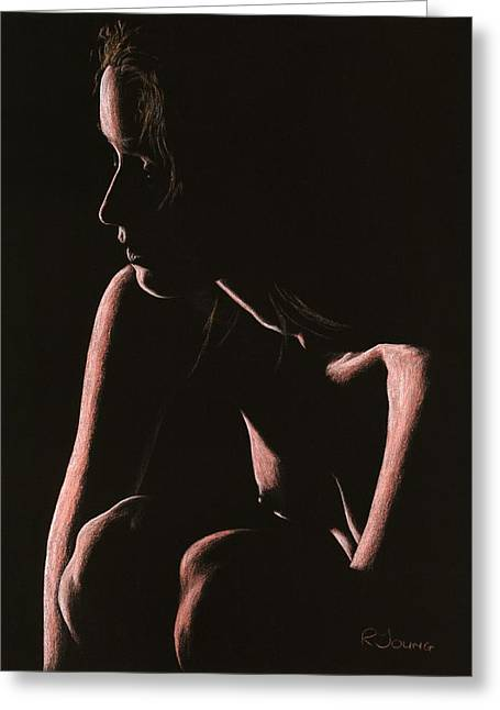 Figurative Pastels Greeting Cards - Lost Greeting Card by Richard Young