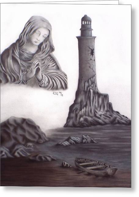 Rosary Drawings Greeting Cards - Lost Soul Greeting Card by Gilbert Photography And Art