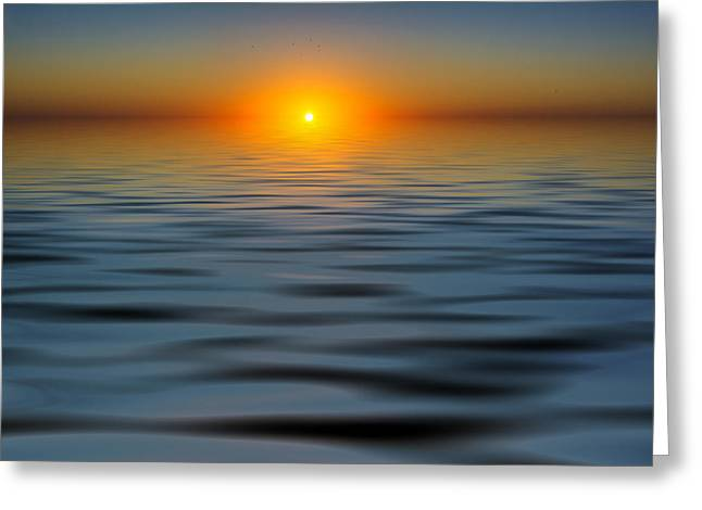 My Ocean Greeting Cards - Lost Sun Greeting Card by Kevin Cable