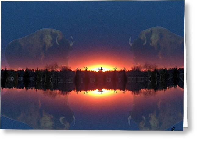 Lost World Reflections Greeting Card by Andrea Lawrence