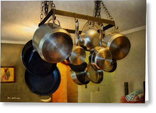 Interior Still Life Greeting Cards - Lots of Pots Greeting Card by RC deWinter