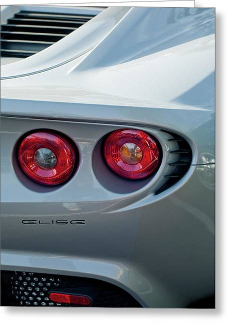 Best Images Photographs Greeting Cards - Lotus Elise Taillight Greeting Card by Jill Reger