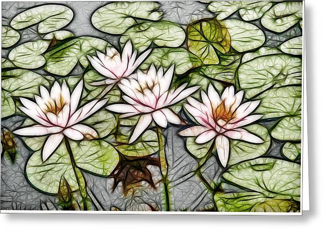 Lotus Flower In The Pond 5 Greeting Card by Lanjee Chee