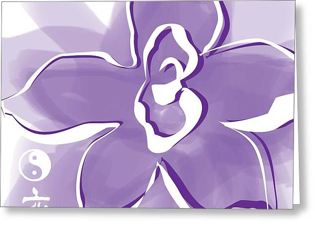 Yang Greeting Cards - Lotus Flower Greeting Card by Kathy Franklin