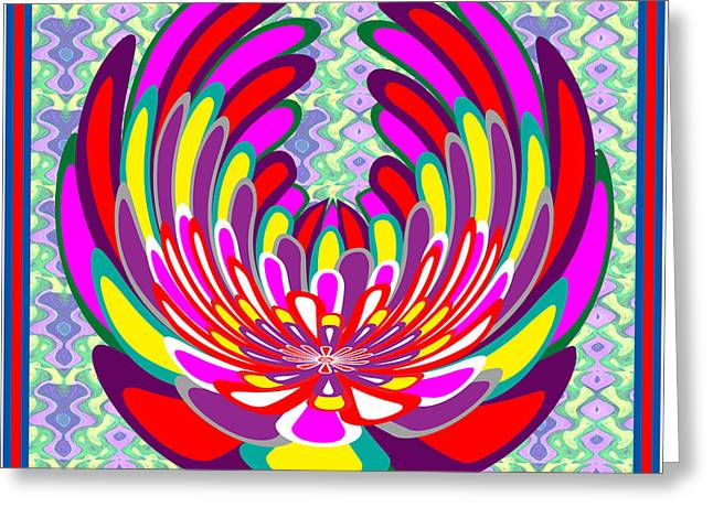 Surprise Greeting Cards - Lotus Flower Stunning Colors Abstract  Artistic presentation by NavinJoshi Greeting Card by Navin Joshi