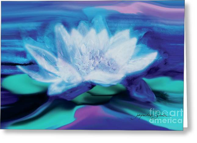 Empowerment Greeting Cards - Lotus Greeting Card by Jacqueline Shuler