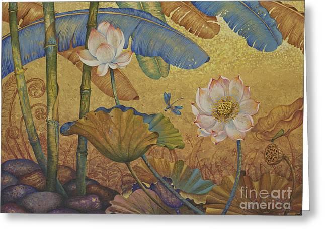 Lotus Land Greeting Card by Yuliya Glavnaya