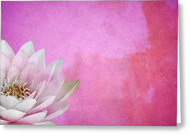 Lotus Greeting Card by Mark Rogan