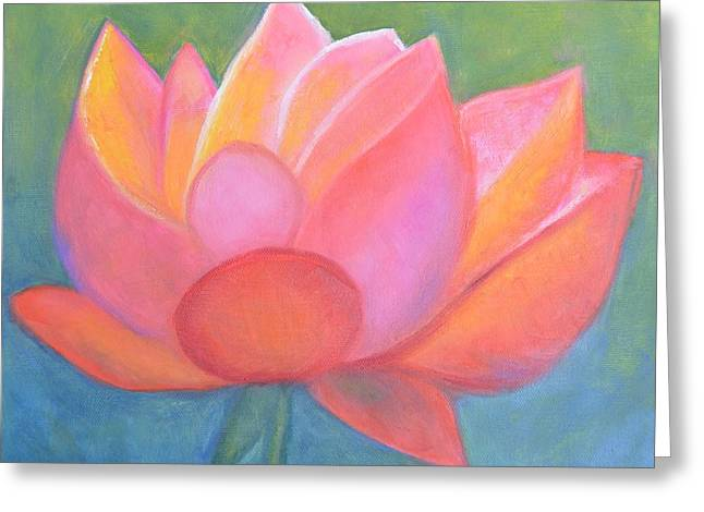 Faa Featured Paintings Greeting Cards - Lotus Greeting Card by Marla McPherson