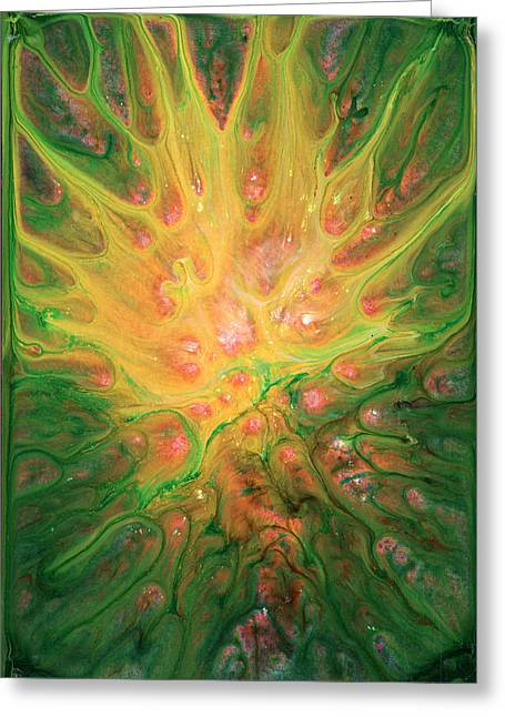 Lotus Nebula Greeting Card by Kd Neeley