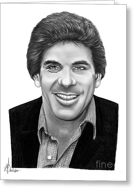Sports Drawings Drawings Greeting Cards - Lou Ferrigno Greeting Card by Murphy Elliott