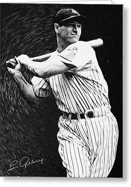 Lou Gehrig Greeting Card by Taylan Soyturk