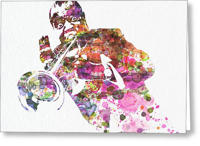 Louis Armstrong 2 Greeting Card by Naxart Studio