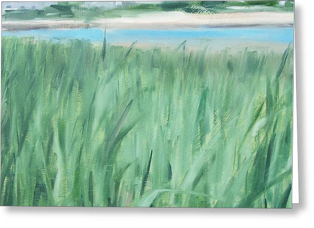 New England Ocean Greeting Cards - Louis Bay Inlet, West Yarmouth, Cape Cod MA Greeting Card by Michael William