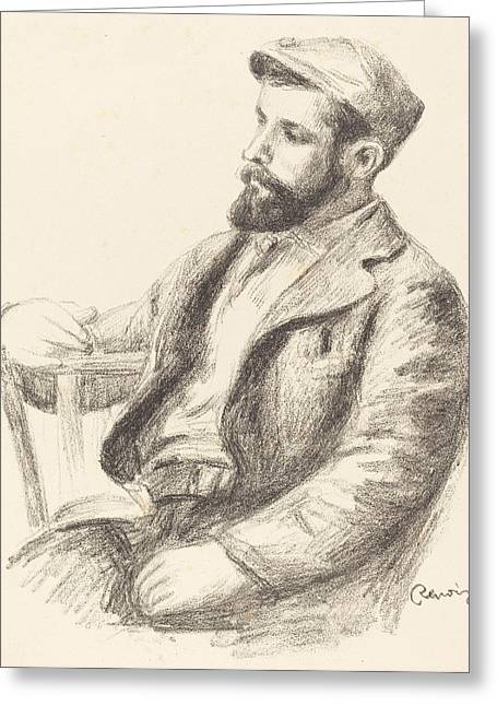 Famous ist Drawings Greeting Cards - Louis Valtat Greeting Card by Auguste Renoir