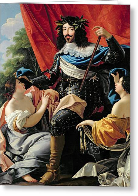 Simon Greeting Cards - Louis XIII Greeting Card by Simon Vouet