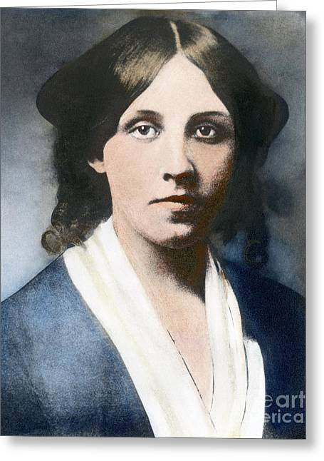 Louisa May Alcott Greeting Card by Granger