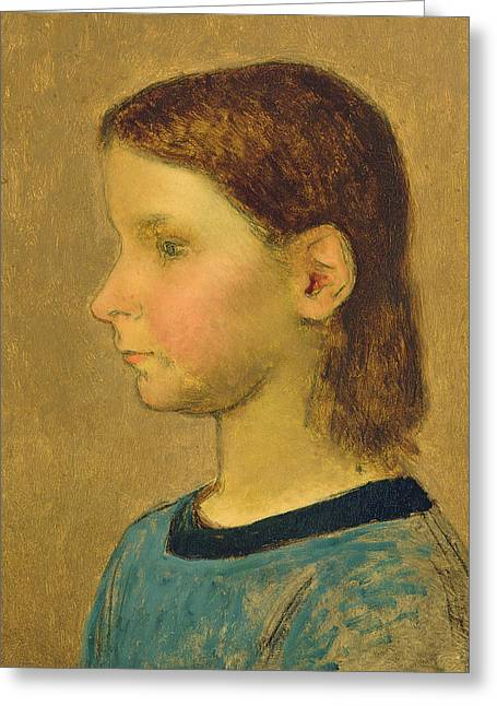 Mullet Greeting Cards - Louise Millet Greeting Card by Jean-Francois Millet