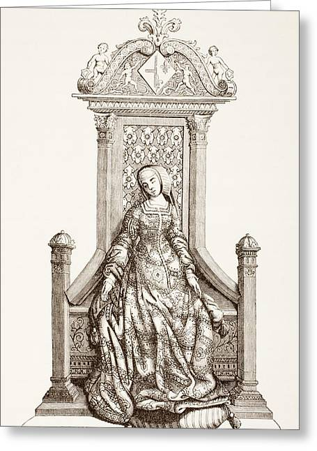 Louise Of Savoy, 1476 Greeting Card by Vintage Design Pics