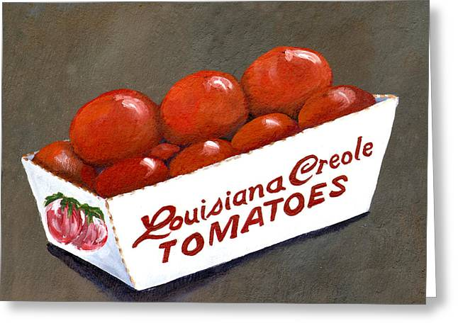 Eats Greeting Cards - Louisiana Creole Tomatoes Greeting Card by Elaine Hodges