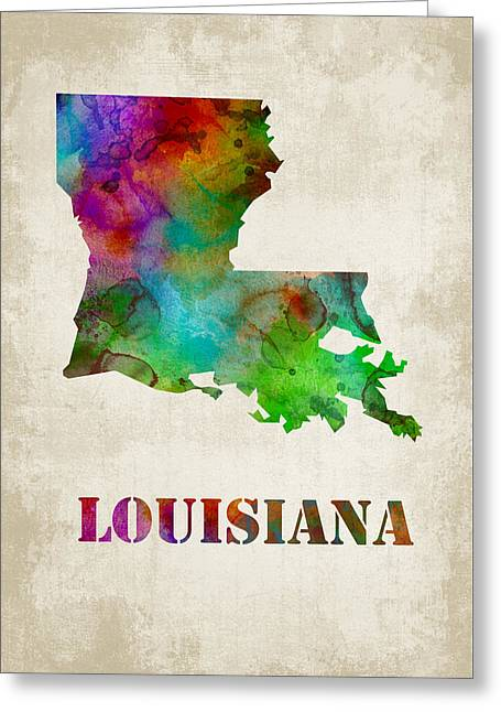Vertical Greeting Cards - Louisiana Greeting Card by Mihaela Pater