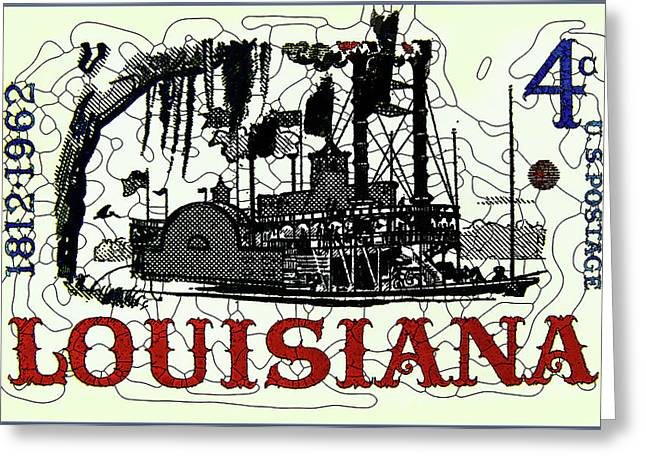 Philatelist Greeting Cards - Louisiana Statehood  Greeting Card by Lanjee Chee