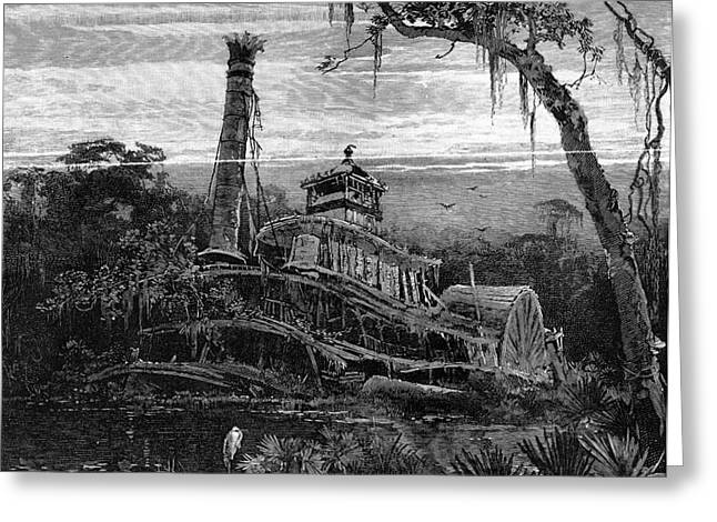 LOUISIANA: STEAMBOAT WRECK Greeting Card by Granger