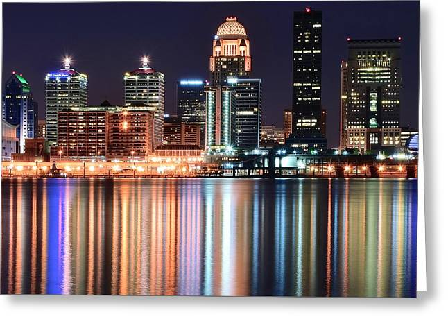 Caves Greeting Cards - Louisville After Dark Greeting Card by Frozen in Time Fine Art Photography