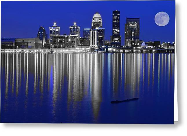 River View Greeting Cards - Louisville Blues Greeting Card by Frozen in Time Fine Art Photography
