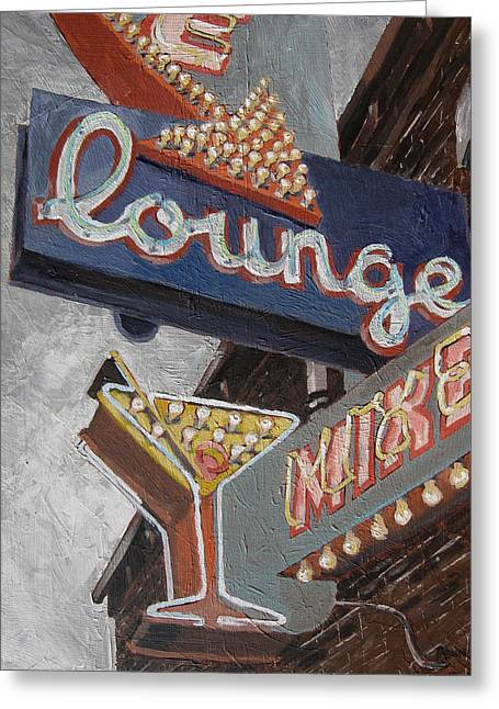 Lounge Paintings Greeting Cards - Lounge Greeting Card by Steve Beaumont