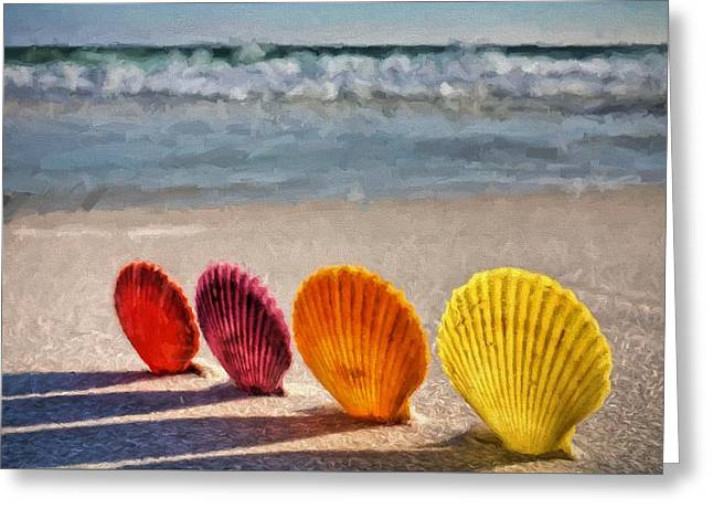 Sea Oats Greeting Cards - Lounging in Destin Greeting Card by JC Findley