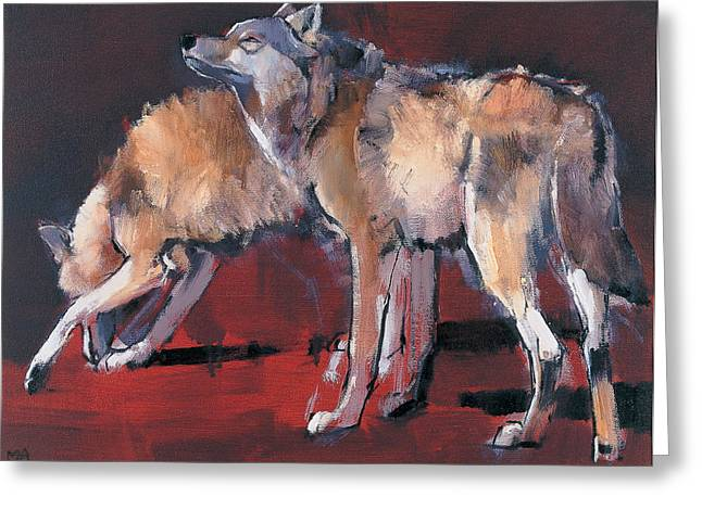 Loups Greeting Card by Mark Adlington