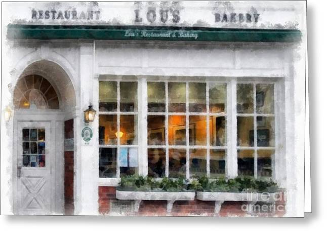 Lou's Of Hanover New Hampshire Greeting Card by Edward Fielding