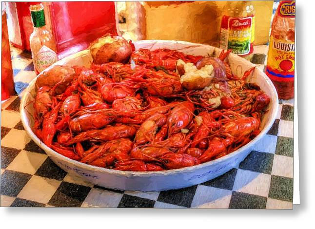 Lousiana Seafood Greeting Card by JC Findley