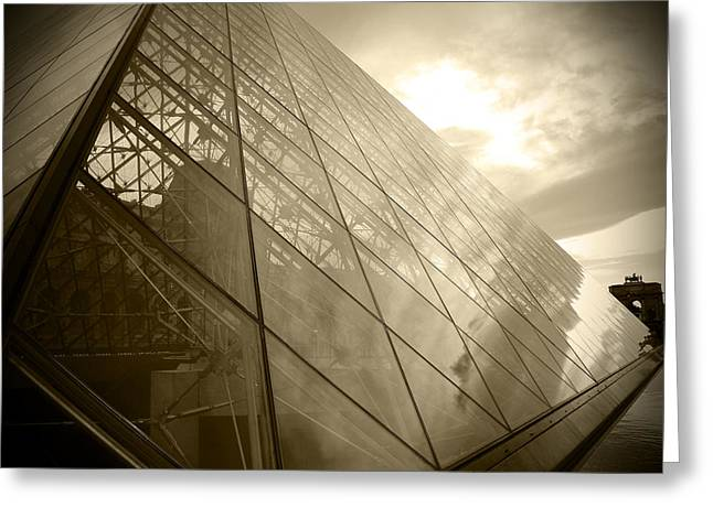Dslr Greeting Cards - Louvre Museum Greeting Card by Kamil Swiatek
