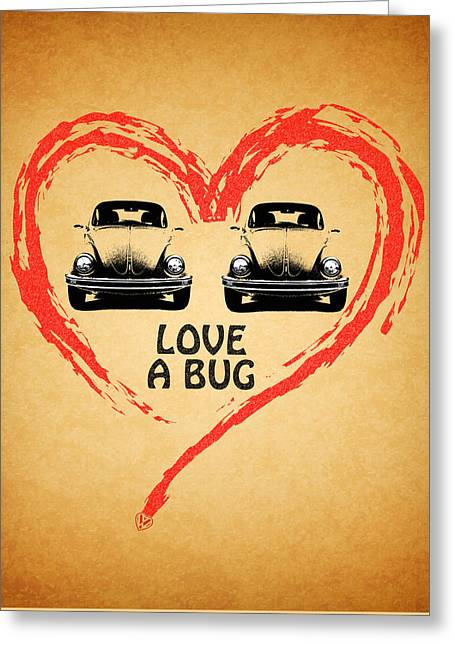 Beetle Greeting Cards - Love A Bug Greeting Card by Mark Rogan