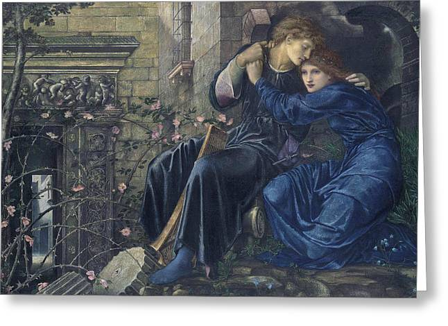 Burne Greeting Cards - Love Among the Ruins Greeting Card by Edward Burne-Jones