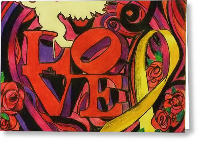 Love and Liberty Greeting Card by Kevin J Cooper Artwork