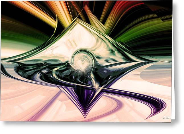 Abstract Digital Digital Art Greeting Cards - Love And Light Greeting Card by Linda Sannuti