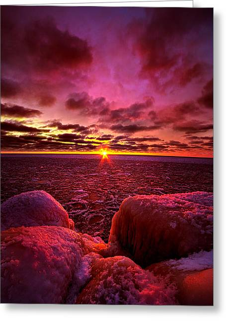 Love At First Light Greeting Card by Phil Koch