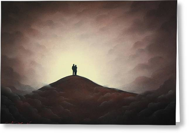 Love Pastels Greeting Cards - Love At Last Light II Greeting Card by Chris Mackie