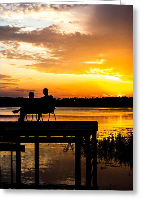Amazing Sunset Greeting Cards - Love at Sunset Greeting Card by Shelby  Young