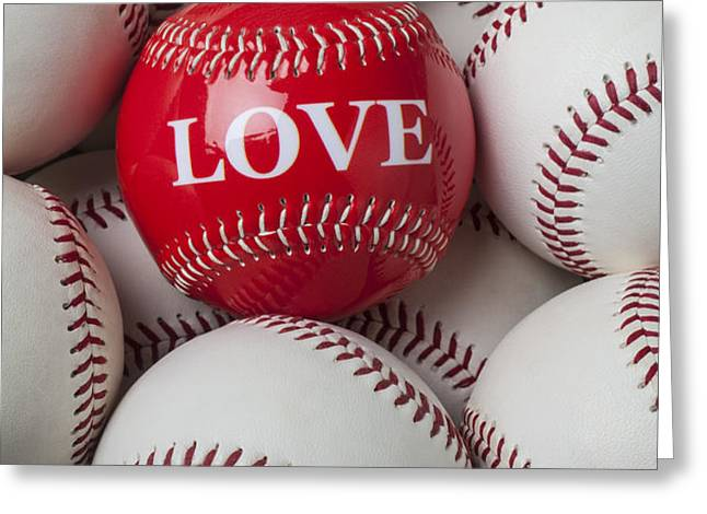 Love baseball Greeting Card by Garry Gay
